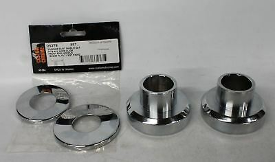 NEW CUSTOM CHROME Harley Davidson Headstock Steering Neck Bearing Cups & Covers