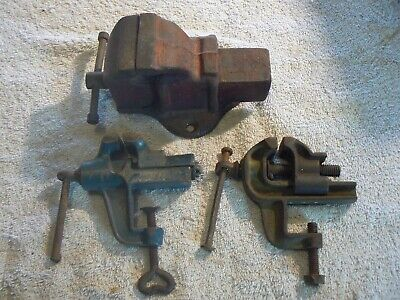 Bench Vices ,Lot of 3, Small Models ,Used ,Working Order.