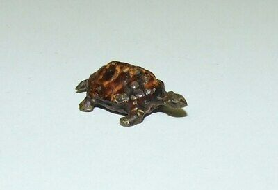 Antique Miniature / Tiny Cold Painted Bronze Of Turtle  0.8 Cm. High