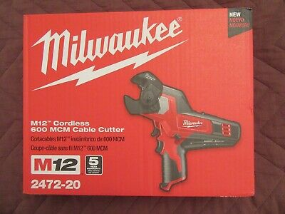 New Milwaukee 12V M12 2472-20 600 Mcm Cordless Cable Cutter Tool Tools!!