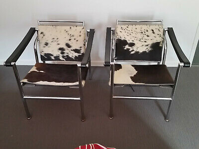 "Pair Of ""le Corbusier Chairs"" - Art Deco  From 1970"