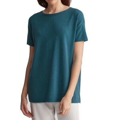 248e0f72ac4 Eileen Fisher NEW Blue Women Size XL Scoop Neck Tunic Cashmere Sweater $378  #166