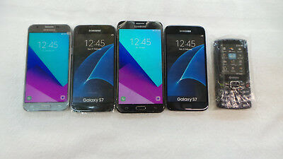 Lot of 5 Phones: four Samsung, and a Kyocera Dummy/Prop/Display Phones