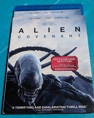 Alien Covenant 2017 Blu-ray & DVD NO DIGITAL BLUERAY bluray new action movie
