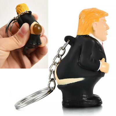 Donald Trump Doll Keychain President Keyring Pendant Squeeze Simulation Funny