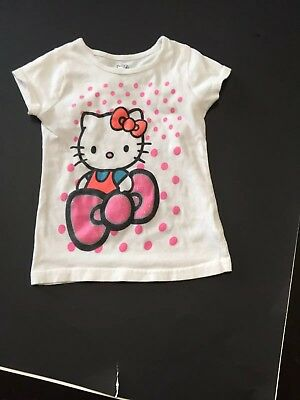 Hello Kitty By Sanrio Girls Size 3T Short Sleeve Graphic T-Shirt