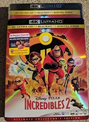 New Disney Incredibles 2 4k ULTRA HD & Blu-ray NO DIGITAL disc kids/Family movie