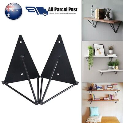 2/4x Mount Industrial Metal AU Wall Bracket Durable Prism Shelf Hairpin Support