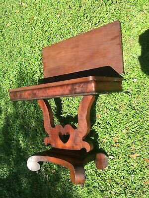 American Empire Mahogany Table 1830-40 has Doves & Heart Well Preserved Original