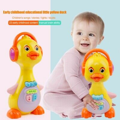 Baby Kids Yellow Duck Musical Toys Light Action With Sound  Early Education Gift