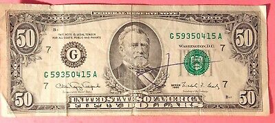 $20 BILL + $50 BILL(1990) Old Currency Vintage (real money) $70 FACE VALUE