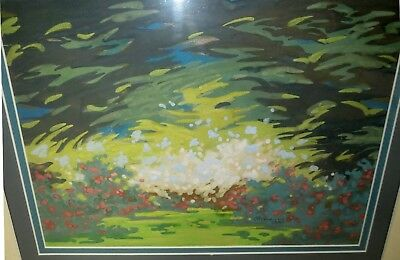 Vintage Modern ABSTRACT - ANIMATED LANDSCAPE PAINTING - BEAUTIFUL SIGNED