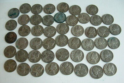 1943 Thru 1945 Jefferson Nickel Collection All 35% Pure Silver Lot #1