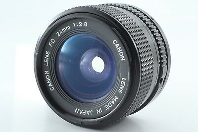 【TOP MINT】 Canon New FD NFD 24mm f/2.8 Wide Angle Manual Focus from japan 00065