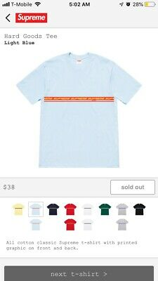 56be3dfb4663 Supreme creeper tee New with tags Lt blue Light blue Supreme