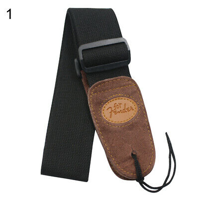 Widening Folk Adjustable Widening Acoustic Electric Guitar Bass Black Belt Strap