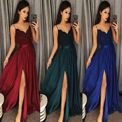 Women Bridesmaid Wedding Long Skirt Evening Cocktail Party Prom Gown Full Dress