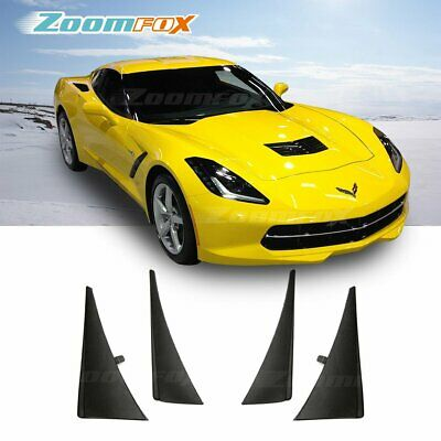 Fit 2014-2019 Chevy C7 Corvette Stingray Front Rear Splash Guards Mud Flaps