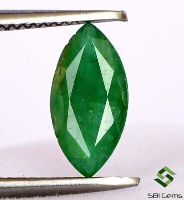 Certified Natural Emerald Marquise Cut 9.75x5 mm 0.80 Cts Deep Green Gemstone