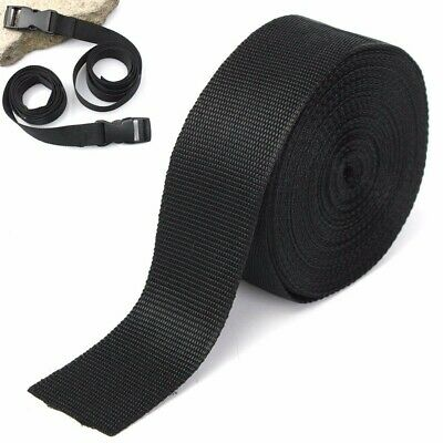 2X 10 Meters Nylon 50mm Tape Strap For Webbing Bag Strapping Belt Craft Package