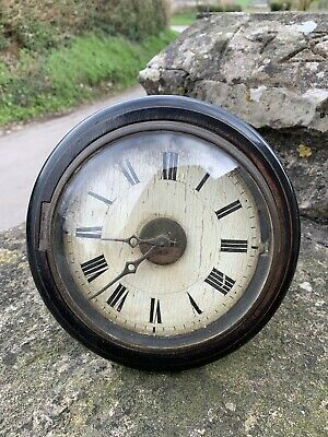 8in CONVEX FUSEE DIAL CLOCK BARN FIND WALL CLOCK FOR RESTORATION