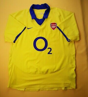 on sale 016d3 a4f91 4.5/5 ARSENAL JERSEY large 2003 2004 away shirt soccer football Nike ig93