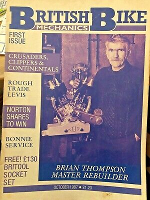 BRITISH BIKE MECHANICS First Issue MAGAZINE. October 1987. Centre Pages Loose.