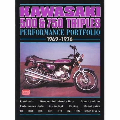 Kawasaki 500 and 750 Triples Performance Portfolio 1969 - Paperback NEW Clarke,