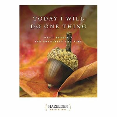 Today I Will Do One Thing: Daily Readings for Awareness - Paperback NEW Anonymou