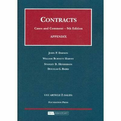 Contracts, Appendix: UCC Articles 1 (General Provisions - Paperback NEW Dawson,