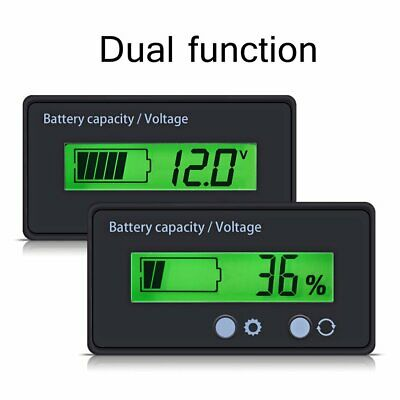 12V-48V LCD Battery Capacity Indicator Digital Voltmeter Voltage Tester Monitor