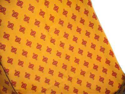 Vent Du Sud Orange Burgundy 54 x 58 French Provencial Tablecloth Made in France