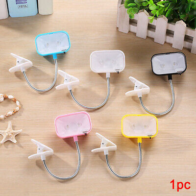 Portable Travel Flexible LED Clamp Clip On Reading Book Light Lamp Square