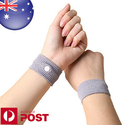2 x Nausea Anti Morning Sickness Motion Travel Sick Wrist Bands Sea - Z530B