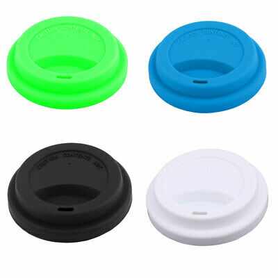 Home Cafe Silicone Resuable Water Coffee Tea Cup Mug Cover Lid 9cm Outer Dia