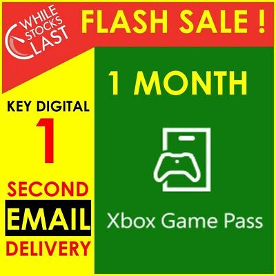 INSTANT Email Delivery- Xbox Game Pass 30 Days 4 Weeks Trial Key WORLDWIDE 24/7