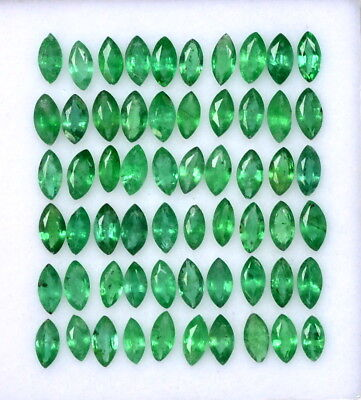 Natural Emerald Marquise Cut 4x2 mm 1.03 Cts Lot 15 Pcs Untreated Loose Gemstone