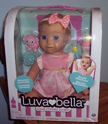 BRAND NEW INTERACTIVE BLONDE BABY LUVABELLA DOLL In Hand Ready To Ship