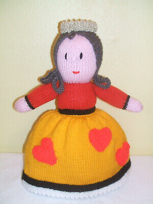 Hand Knitted Topsy Turvy Doll Alice In Wonderland / Queen Of Hearts