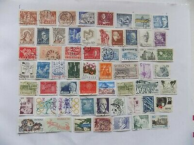 Swedish Collection of stamps off paper-3-13-some older