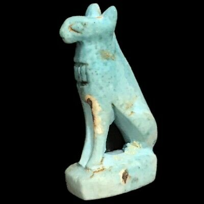Beautiful Ancient Egyptian Blue Amulet 300 Bc (12)