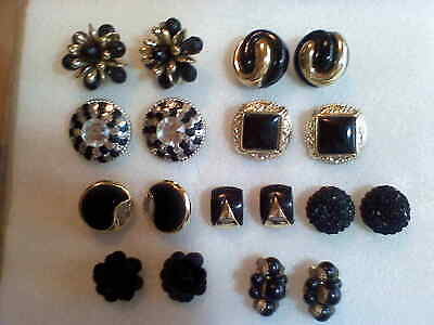 VINTAGE JOB LOT 9 PAIRS OF 1980s/90s LARGE CLIP ON EARRINGS