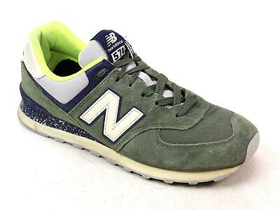 d4843bdf75aa6 Mens New Balance 574 Khaki Suede Classic Sports Gym Sneakers Trainers Uk Size  9