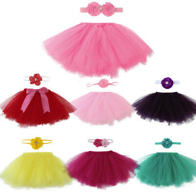 Newborn Baby Girl 0-4 Months Tutu Skirt Costume Photography Photo Prop Outfits