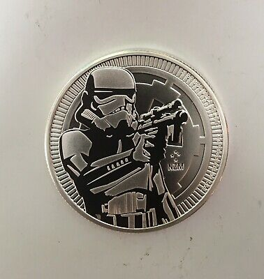 2018 $2 Niue Silver Stormtrooper Star Wars .999 1 oz Proof
