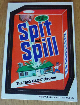 Spit and Spill Big Glob Cleaner Sticker Wacky Packs 1973 Series 3 Tan Back