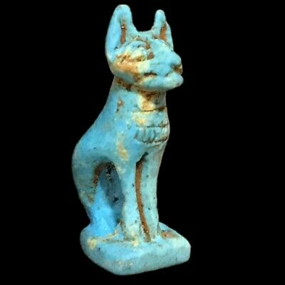 Beautiful Ancient Egyptian Blue Amulet 300 Bc (15)