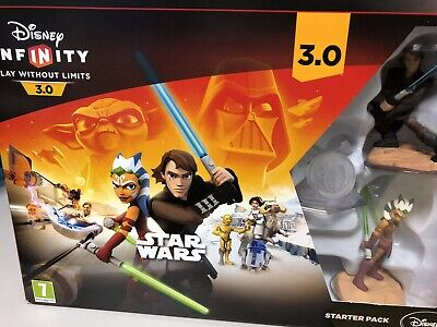 PS4 Disney Infinity 3.0 Game Disc And 3 Figures - Boxed With Portal.