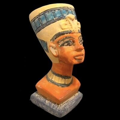 Beautiful Ancient Egyptian Bust Statue 300 Bc (1) Large !!!!