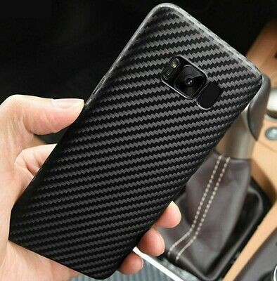 Case For Samsung Galaxy J6 Plus 2018 S10 S8 S9 Carbon Fiber Soft Silicone Cover